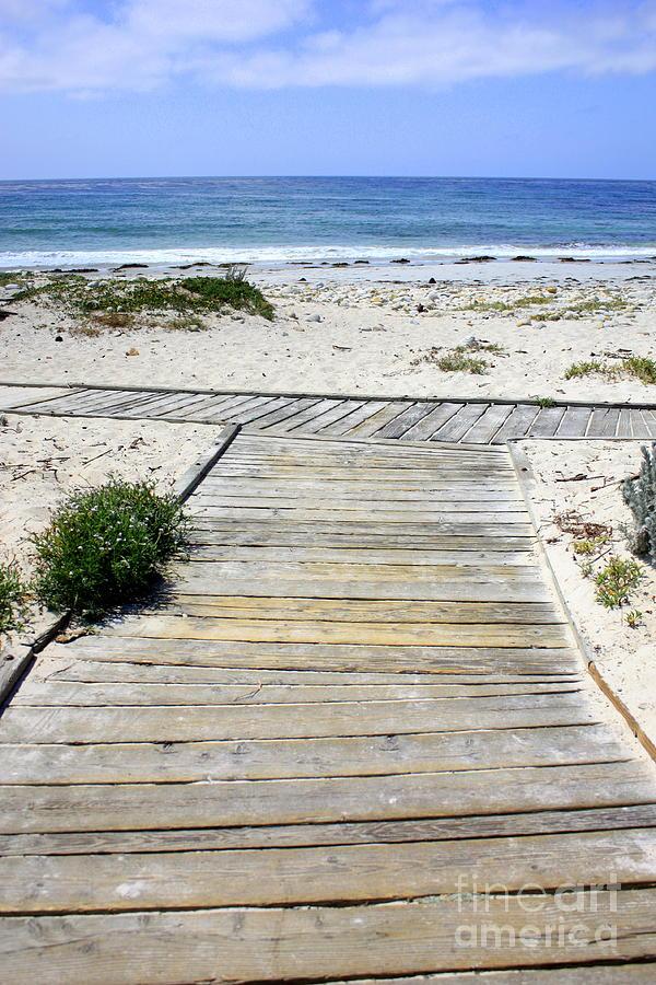 Ocean Photograph - Beach Walk by Carol Groenen
