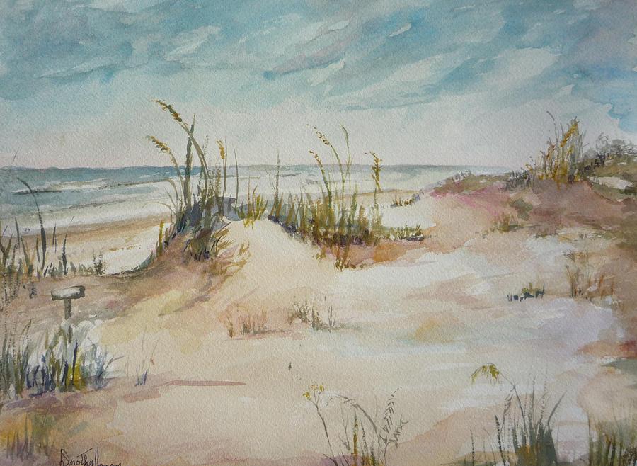 Beach Painting - Beach Walk by Dorothy Herron