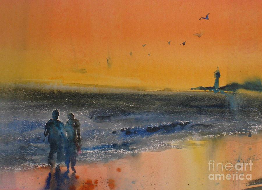 Maritime Painting - Beach Walk by John Byram