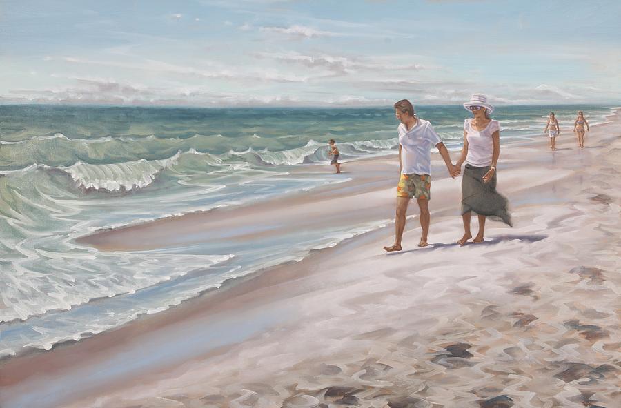 Beach Walking by Gary M Long