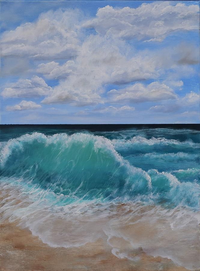 Beach Painting - Beach Wave by Denise Fisher