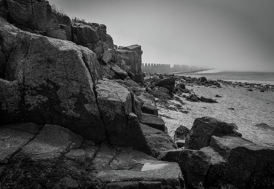 Europe Photograph - Beach With Anti-pylons by Fabio Gomes Freitas