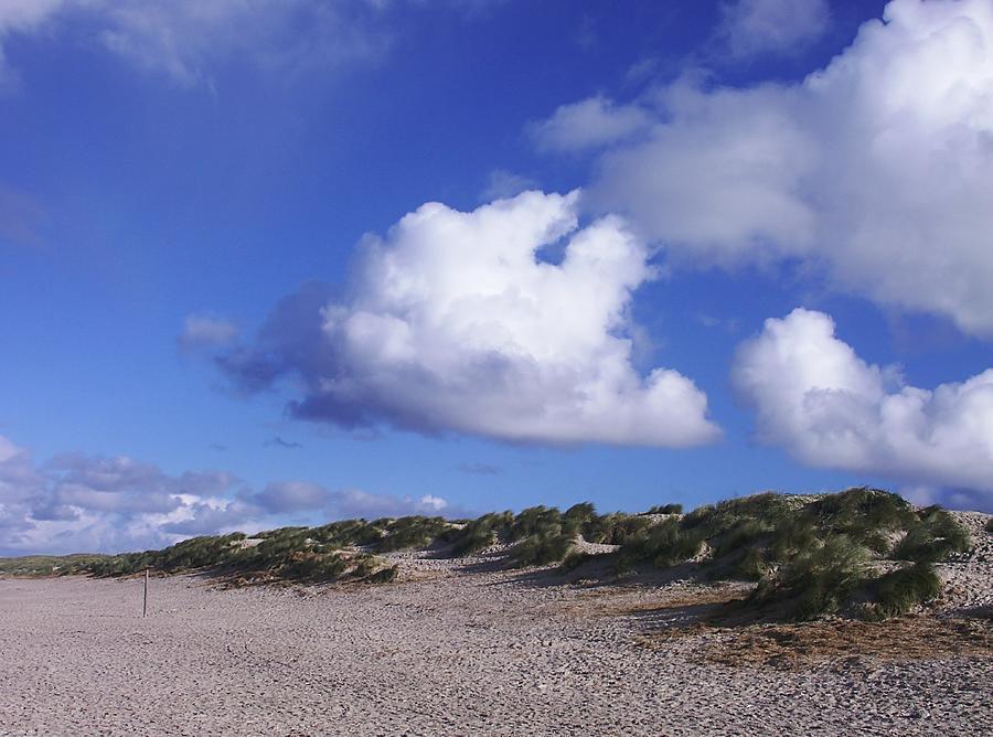Beach Photograph - Beach With Clouds by Sascha Meyer