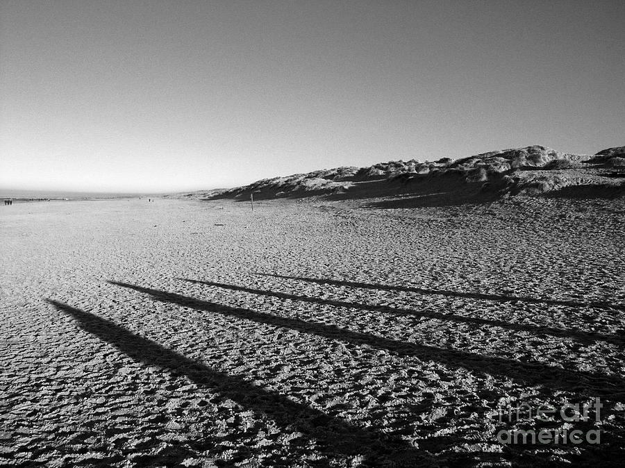 Landscape Photograph - Beach With Shadows by Sascha Meyer