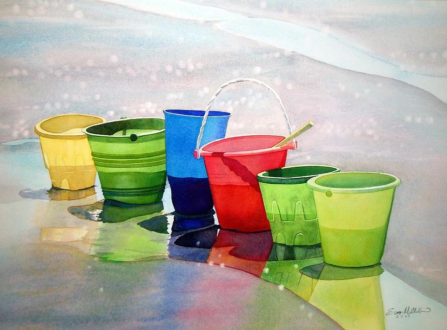 Beach Buckets Painting - Beachbuckets by Scott Mulholland