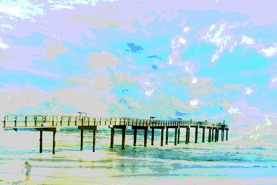 Beachcomber's Ocean Landscape by Mary Clanahan