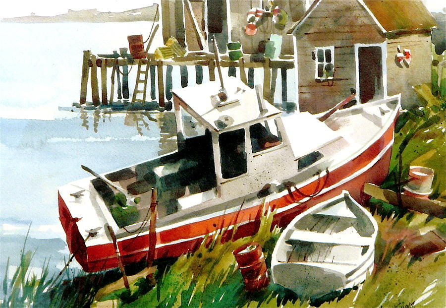 Beached Painting by Art Scholz