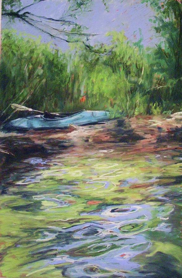 Lake Painting - Beached At Lake George by Michelle Winnie