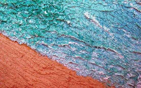 Beach Aerial View Painting - Beached by Cat Moss