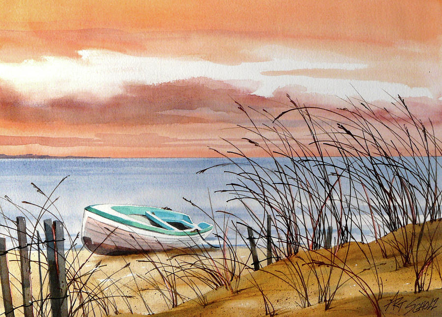 Beached In Breeze Painting by Art Scholz