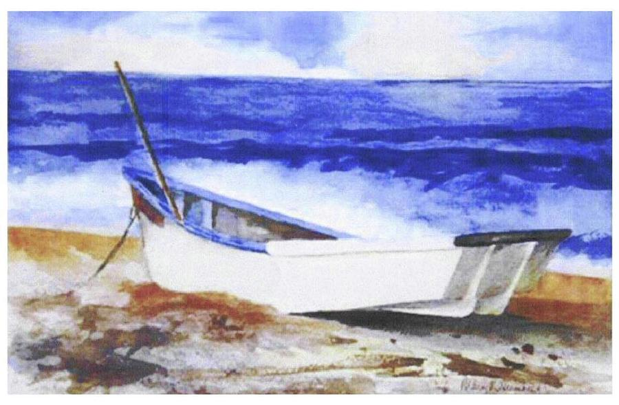 Beached Painting by Mary Blumberg