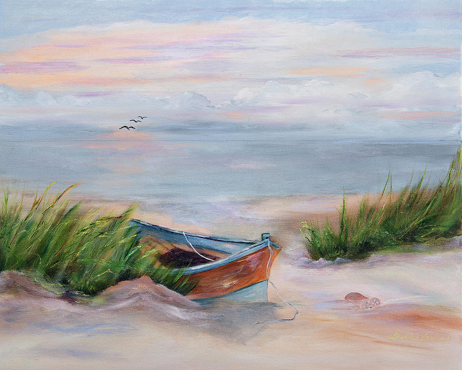 Ocean Painting - Beached by Shirley Lawing