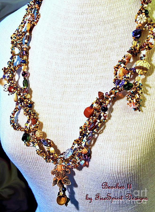 Gourd Stitch Jewelry - Beaches II by Patricia Griffin Brett