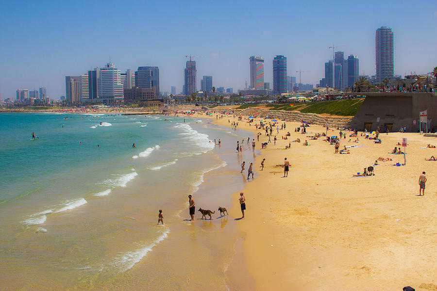 Tel Aviv Photograph - Beachfront In Tel Aviv  by Joshua Van Lare