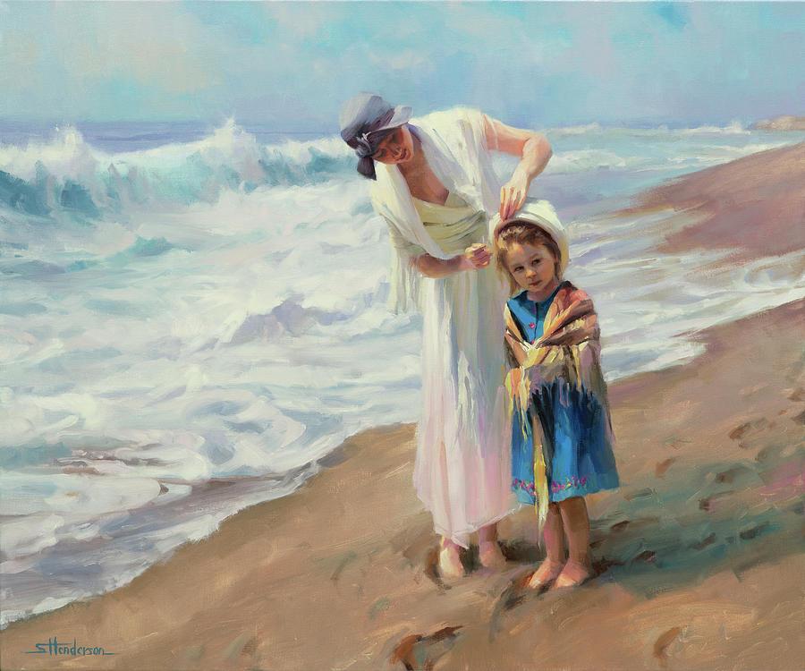 Beach Painting - Beachside diversions by Steve Henderson