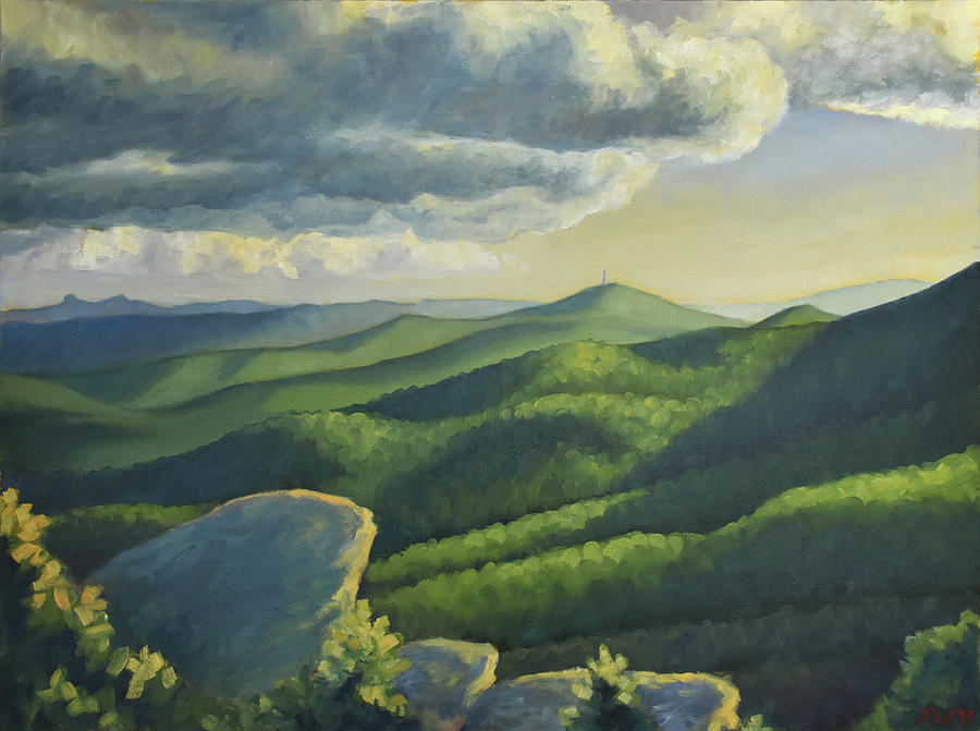 Mountains Painting - Beacon Heights by Lauren Waterworth