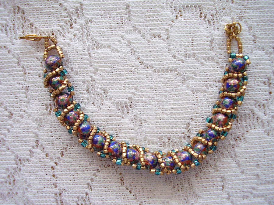 Jewelry Jewelry - Beaded Bracelet Of Unique Beads by Yvette Pichette