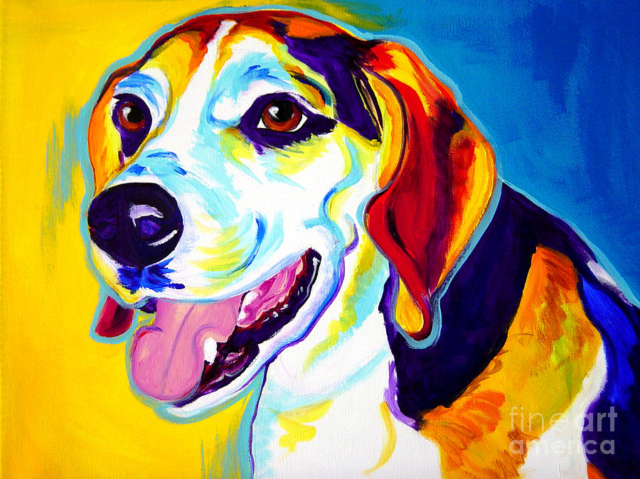 Beagle Lou Painting By Alicia Vannoy Call