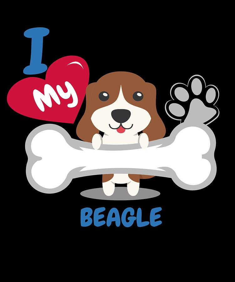 Beagle Cute Dog Gift Idea Funny Dogs Digital Art By Dogboo