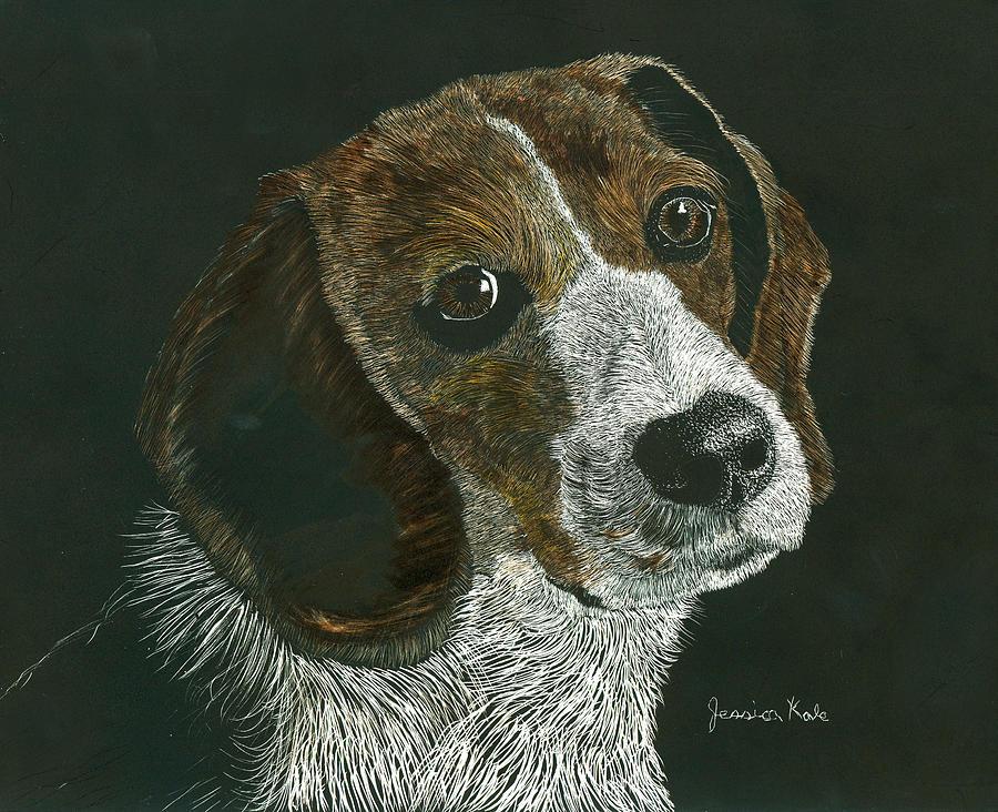 Dog Mixed Media - Beagle Portrait by Jessica Kale