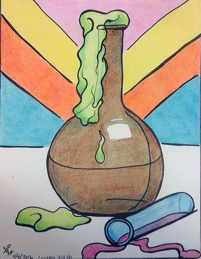 Chemistry Painting - Beaker by Loretta Nash
