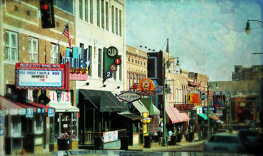 Beale Photograph - Beale Street Blues by Suzanne Barber