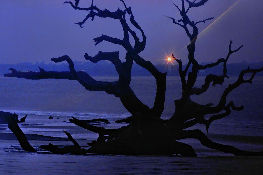 Pre Dawn Photograph - Beam Me Up To The Beach by Laura Ragland