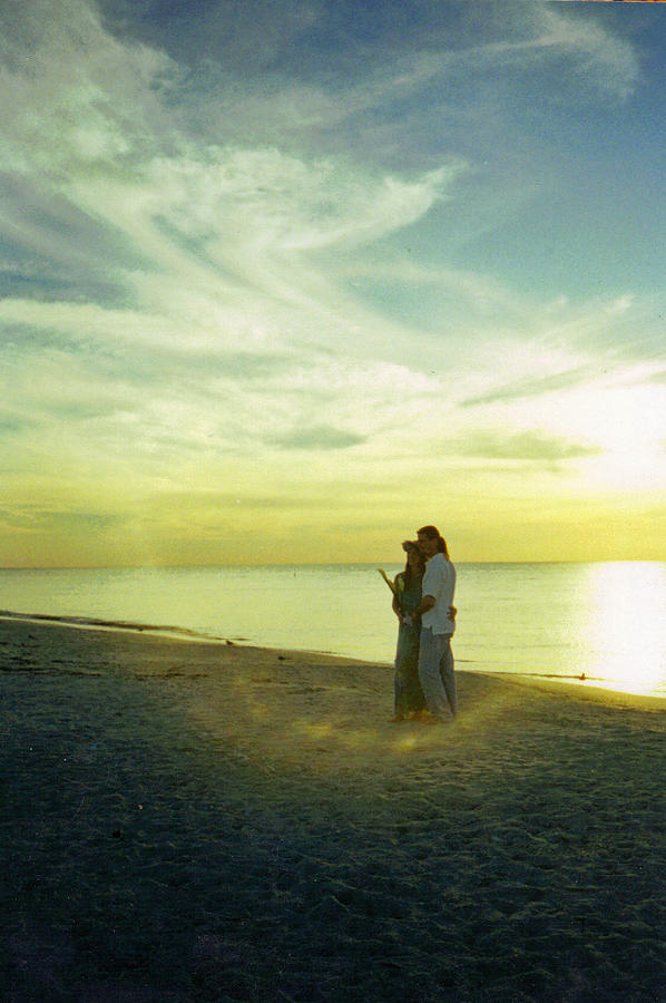 Sunset Photograph - Beaming Love by Jean Haynes