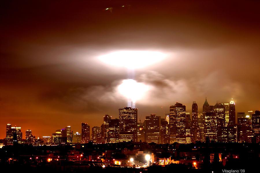 Cityscape Photograph - Beams Of Light  by Brian  Vitagliano