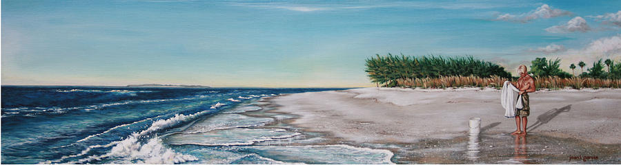 Beach Painting - Bean Point  by Joan Garcia