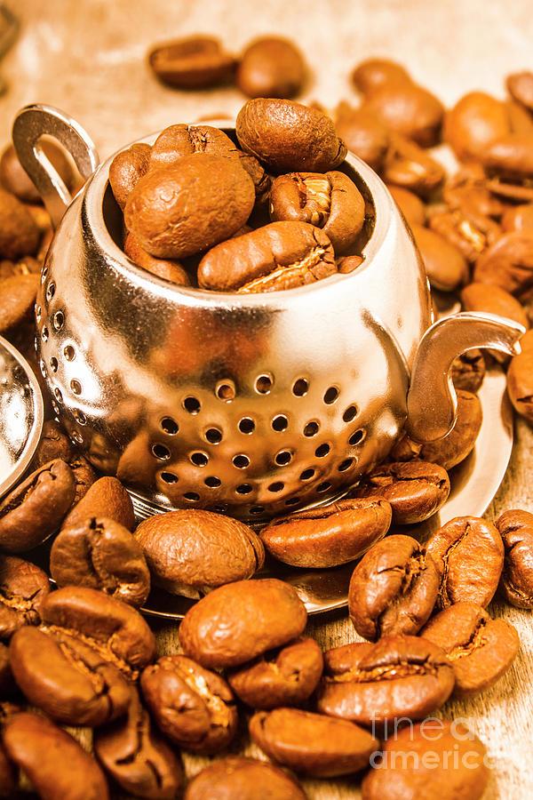 Teapot Photograph - Beans The Little Teapot by Jorgo Photography - Wall Art Gallery