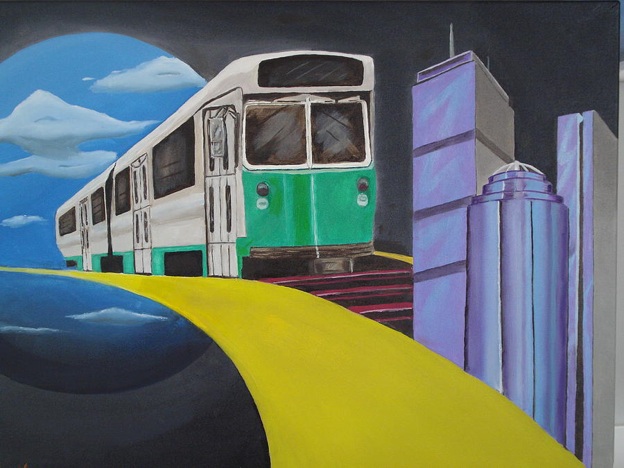 Boston Painting - Beantown Transit by Michael Holmes