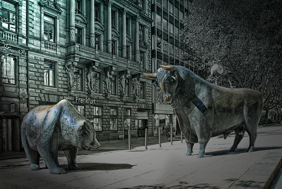 Frankfurt Photograph - bear and bull Frankfurt by Joachim G Pinkawa