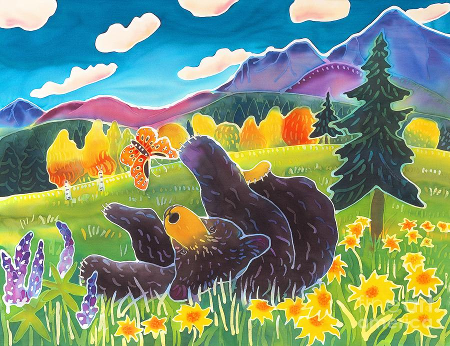 Bear Painting - Bear and the Butterfly by Harriet Peck Taylor