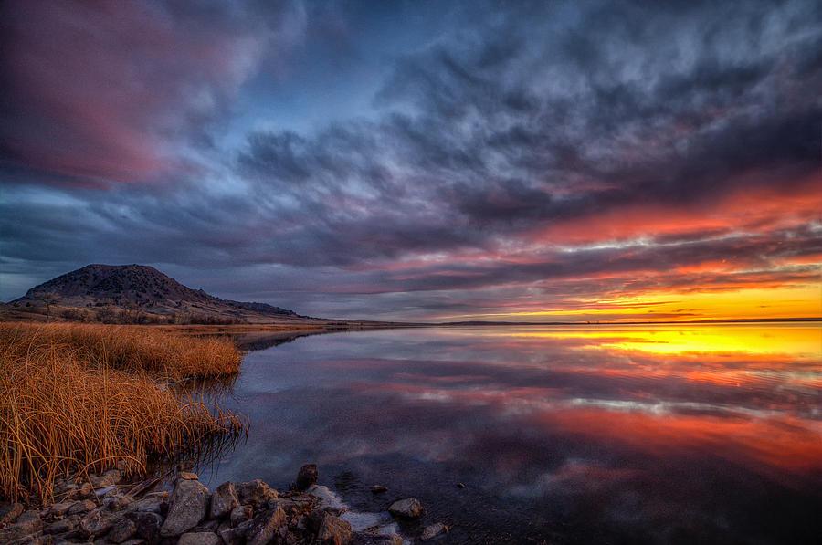 Bear Butte Lake Sunrise by Fiskr Larsen