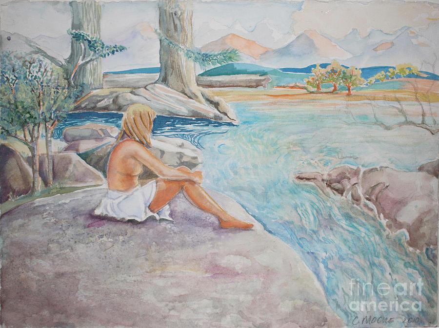 Fantasy Painting - Bear Creek by Catherine Moore