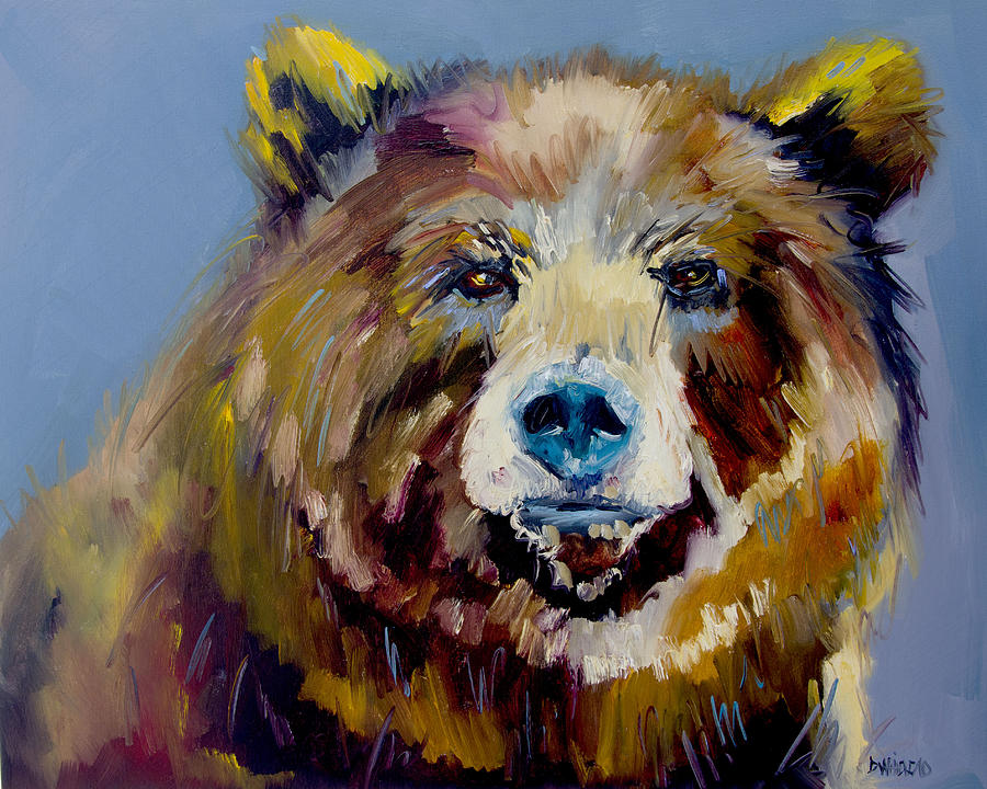 Bear Exposed Painting By Diane Whitehead