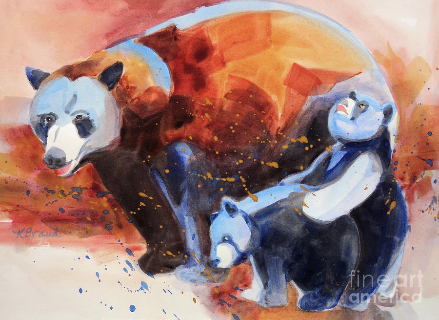 Paintings Painting - Bear Family Outing by Kathy Braud