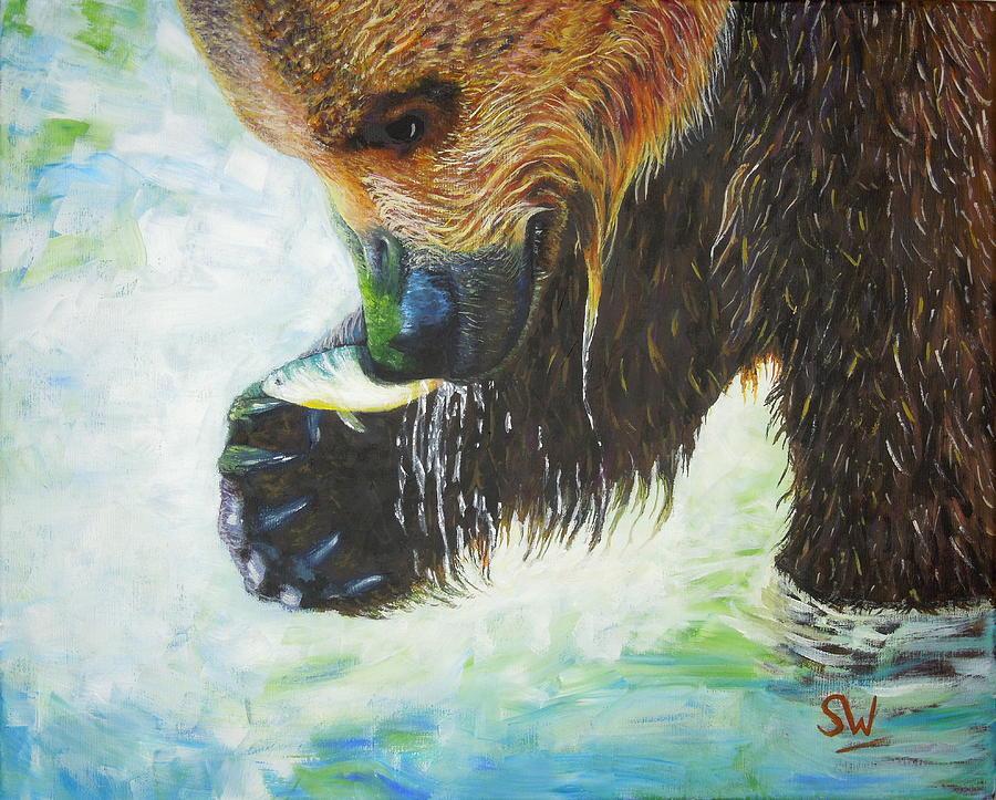 Bear Fishing by Shirley Wellstead