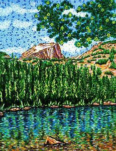 National Park Painting - Bear Lake by Max R Scharf