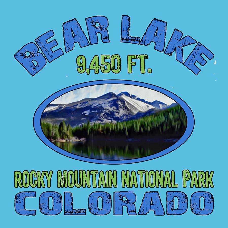 Bear Lake Digital Art - Bear Lake Rocky Mountain National Park Colorado by David G Paul