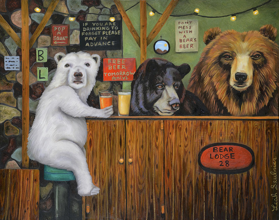Bear Lodge 28 by Leah Saulnier The Painting Maniac