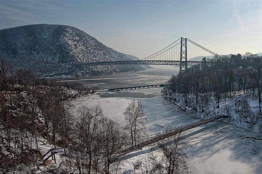 Horizontal Photograph - Bear Mountain Bridge by Photosbymo