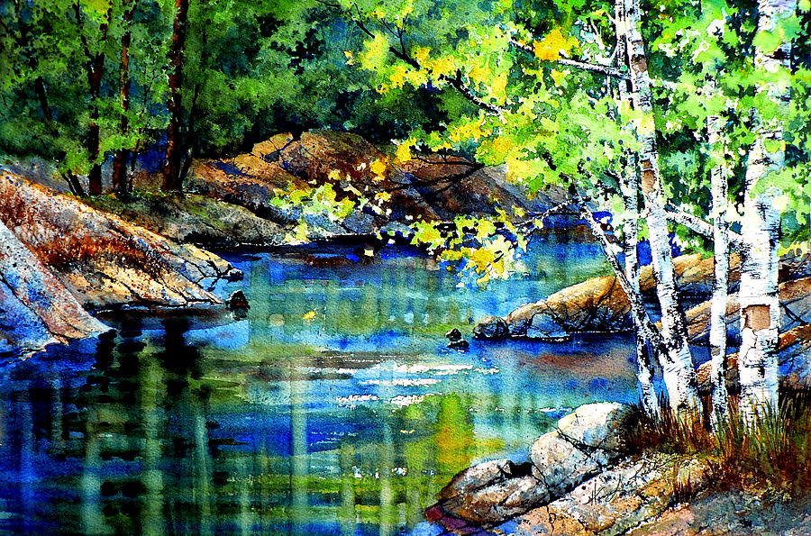 Landscape Painting Painting - Bear Paw Stream by Hanne Lore Koehler