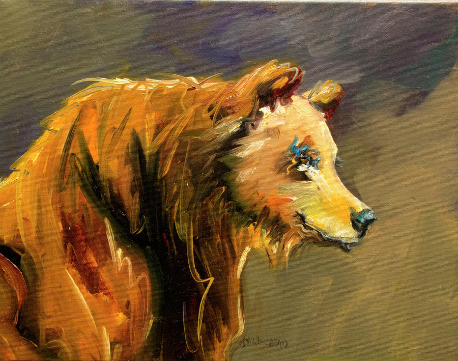 Wildlife Painting - Bear Pout by Diane Whitehead