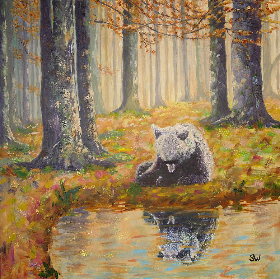 Bear reflecting by Shirley Wellstead