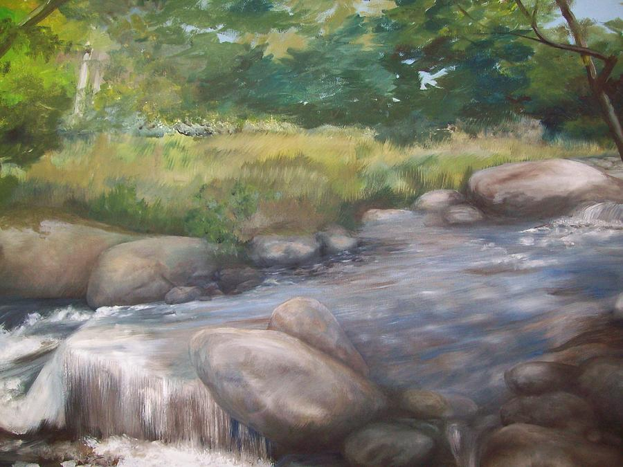 Landscape Painting - Bear River by Chris Wing