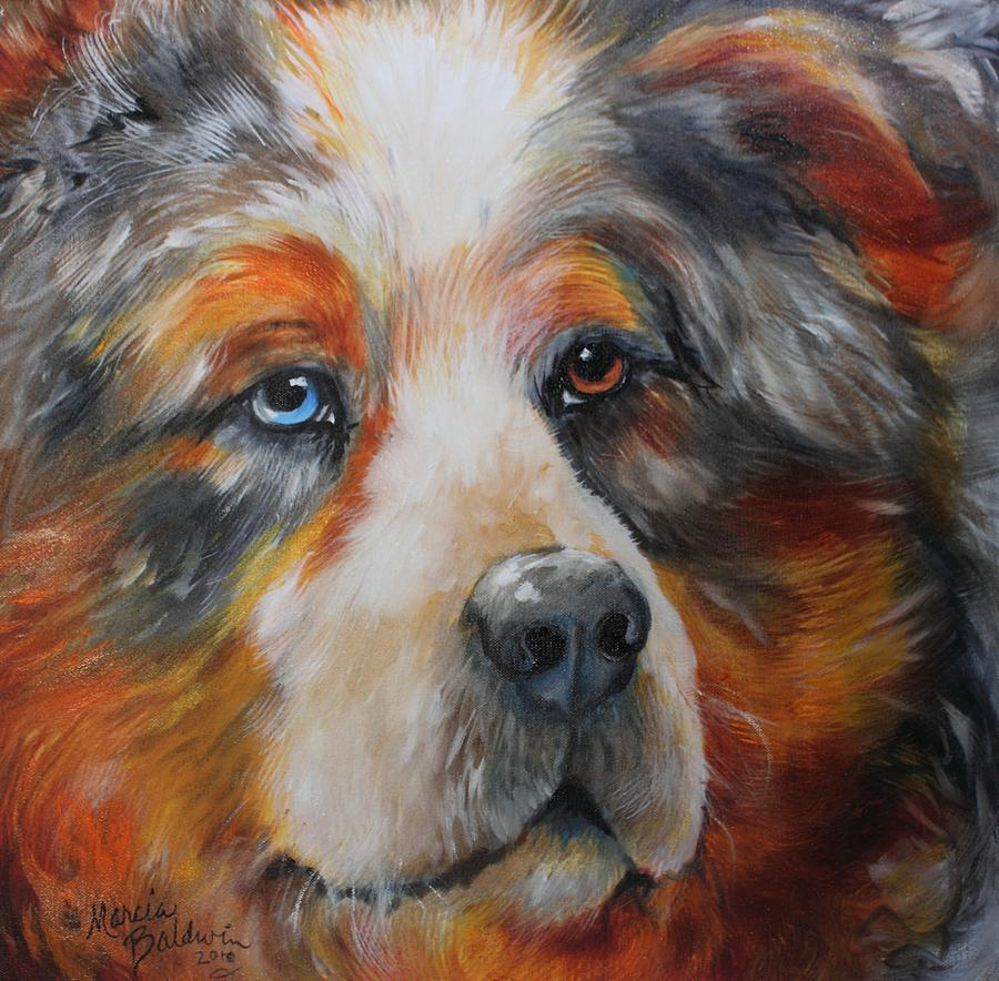 Dog Painting - Bear The Catahoula Cur by Marcia Baldwin