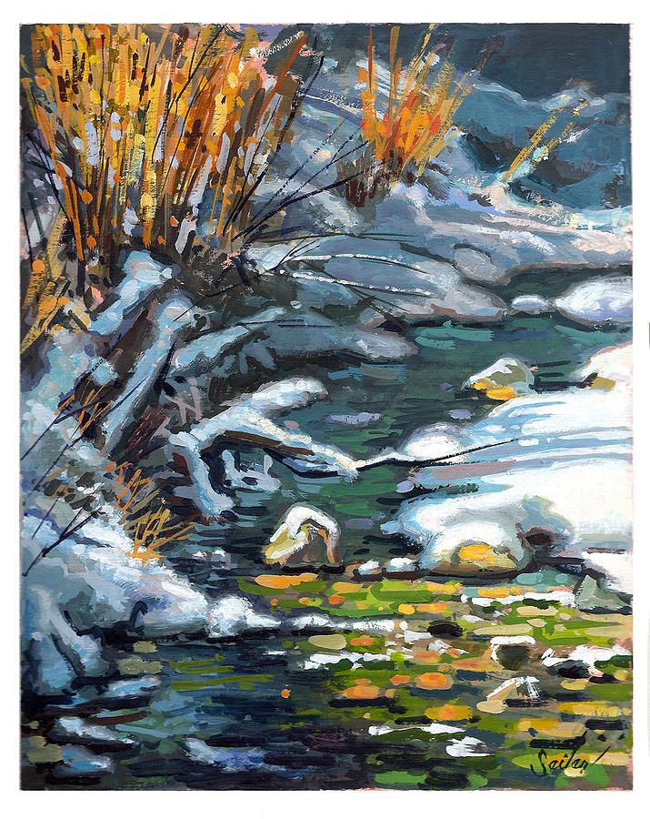 Landscape Painting - Bear Tooth Creek by Larry Seiler