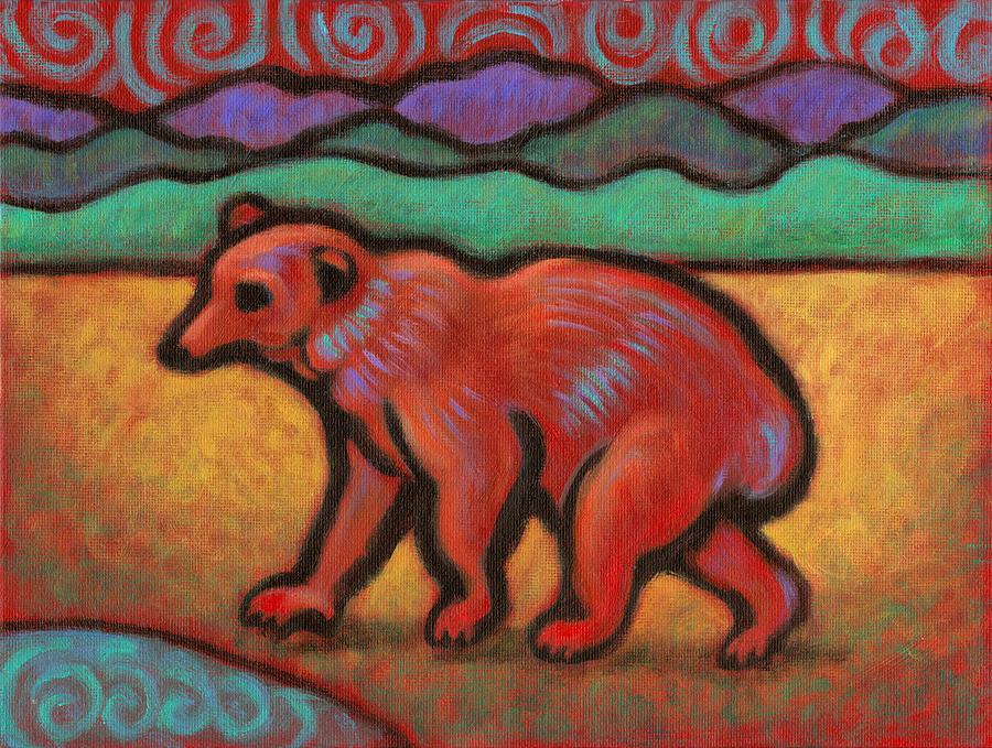 Bear Painting - Bear Totem Animal by Linda Ruiz-Lozito